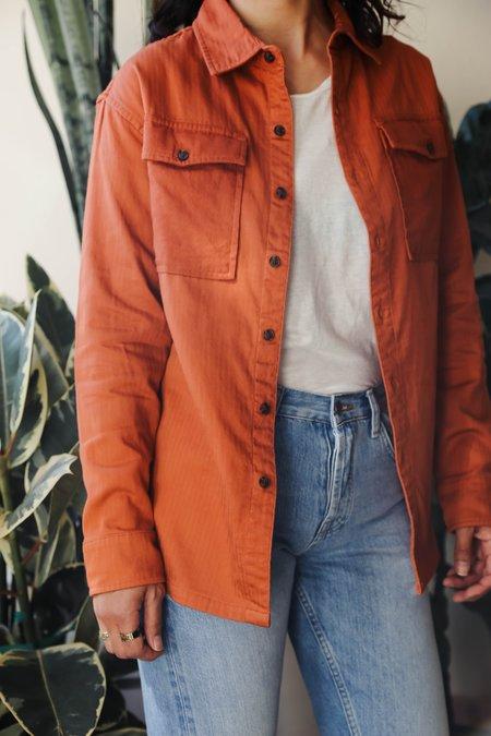Roamers Pebble Button Up Shirt - Sienna