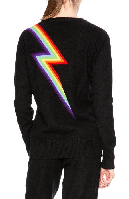 Madeleine Thompson Rainbow Bolt Sweater