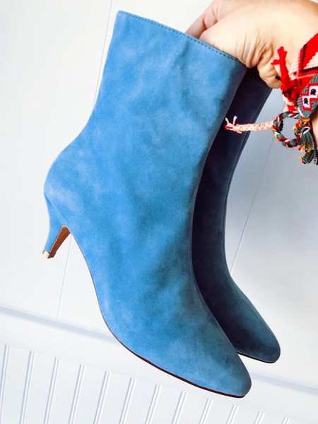Charlotte Stone Boots - Electric Blue