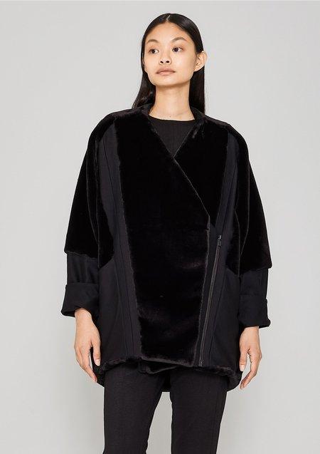 Berenik Zip Faux Fur Coat - Black