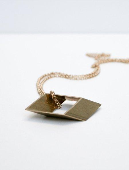 NINA BEE ROHMBUS NECKLACE - GOLD