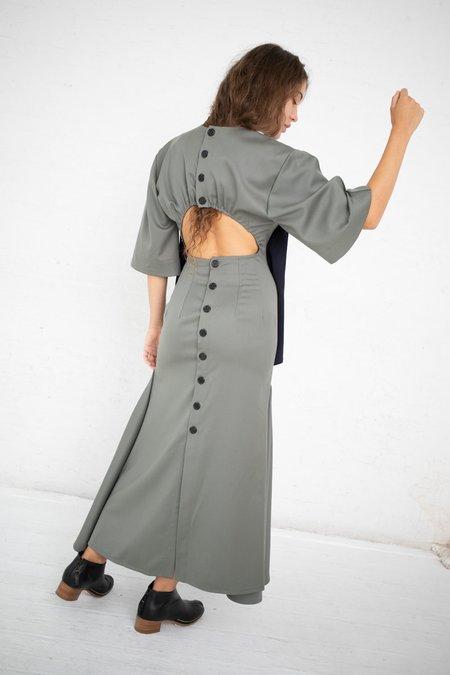 Yulia Kondranina Maxi Dress - Olive/Navy