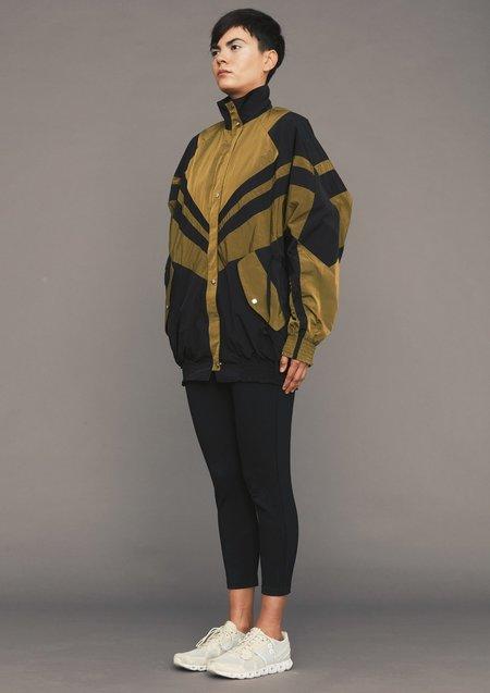 Berenik Light Weight Water Repellent Ski Jacket - Patchwork Black/Gold