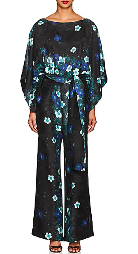 Warm NY Layla Jumpsuit - Black/blue
