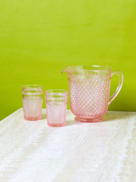 Mosser Glass Glass Pitcher - Rose