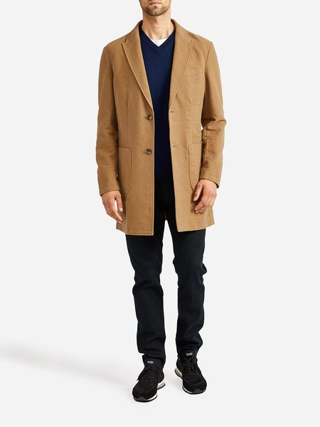 O.N.S Clothing Moleskin Peak Collar Coat