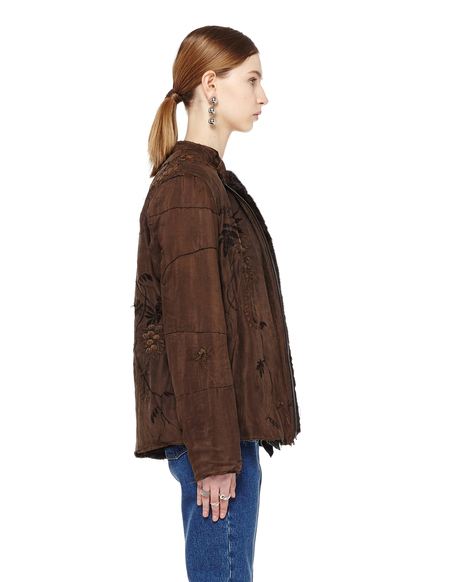 By Walid Mink Fur Lined Silk Jacket