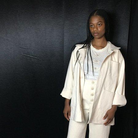 Unisex Laurs Kemp Workwear Jacket - Off White