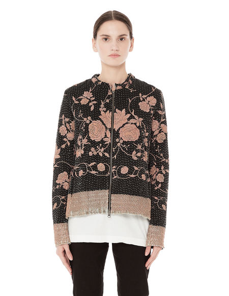 By Walid Rose embroidered bomber jacket - black