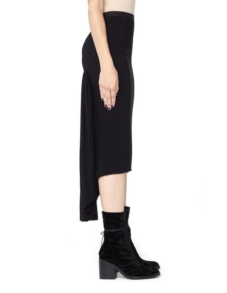 Rick Owens Lilies Draped Knee Length Skirt