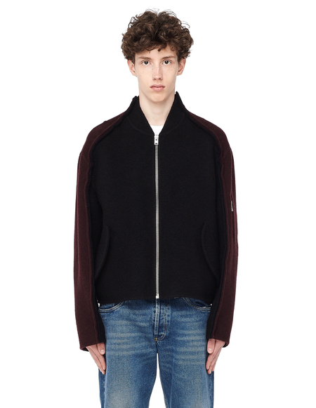 Yang Li Zipped Wool Jacket - Black