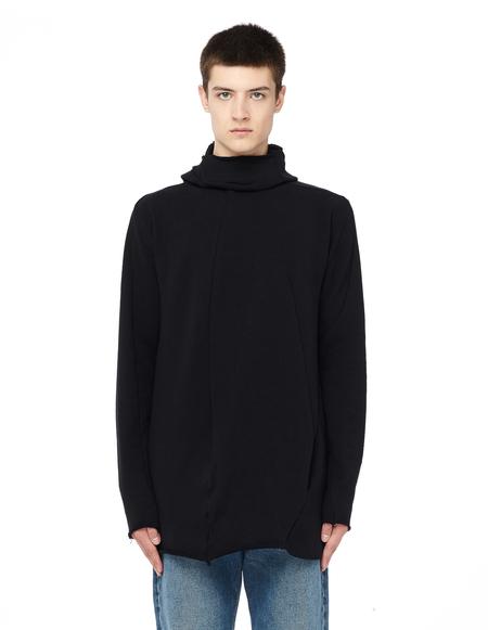 Leon Emanuel Blanck Distortion Cotton Hoodie - Black