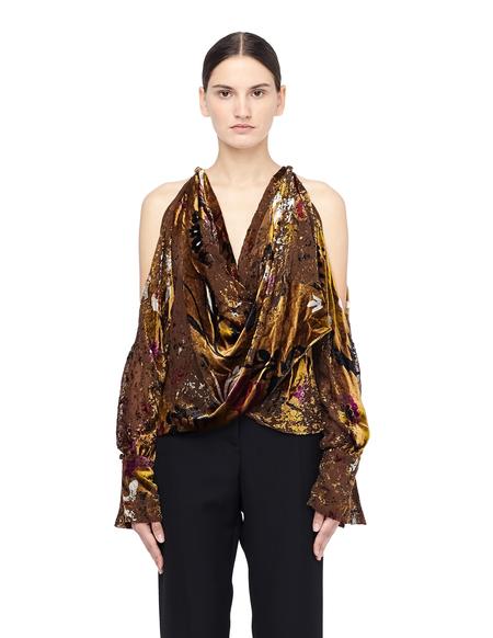Urban Zen Velvet Blouse with Open Shoulders