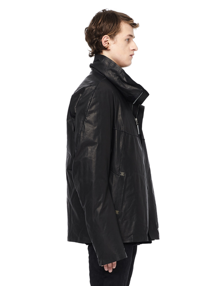 Isaac Sellam Padded Leather Jacket - Black