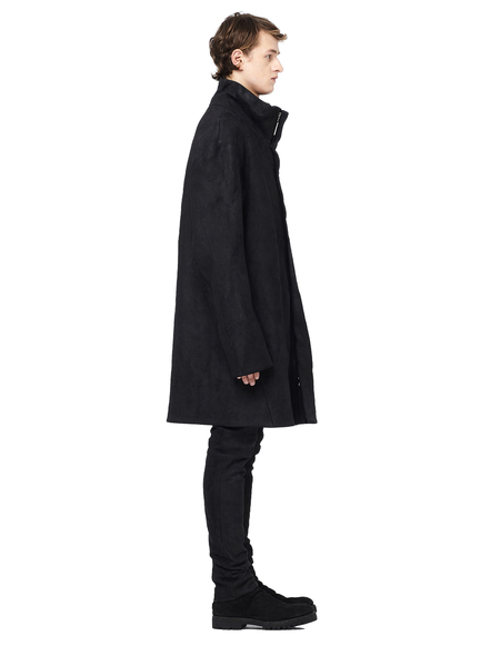 Isaac Sellam Wool-lined Leather Coat - Black