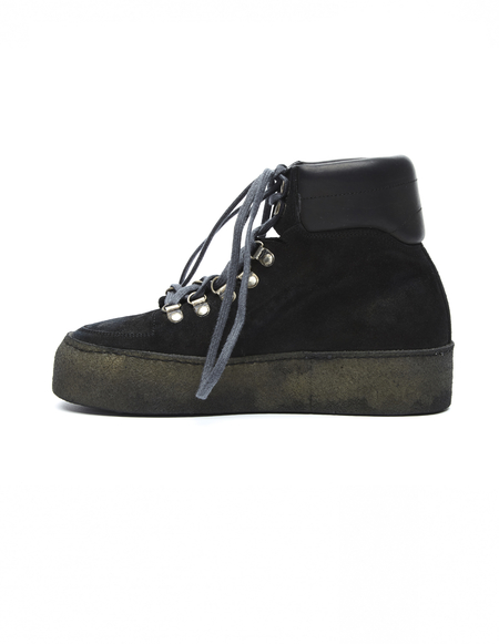 Guidi Chunky Platform Suede Boots - Black