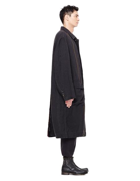 Ziggy Chen Linen Coat - Black