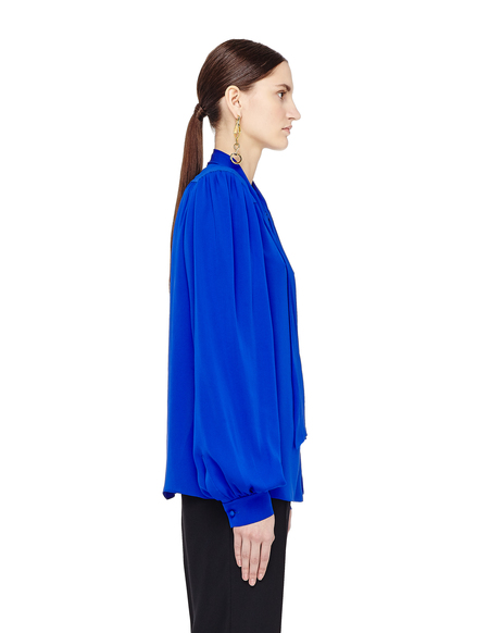 Maison Margiela Ascot Collar Silk Blouse
