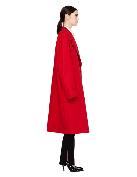 Yang Li Double Breasted Oversized Coat - Red