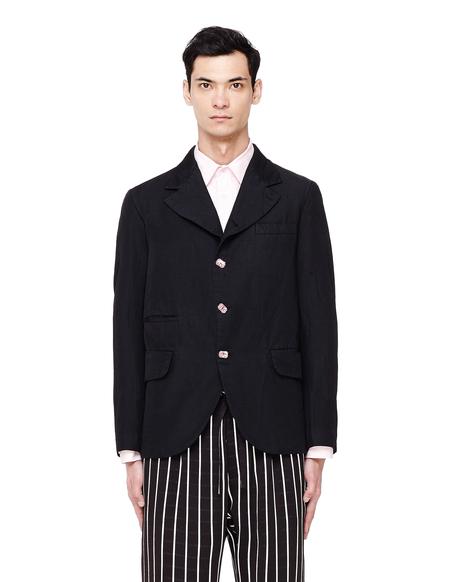 Comme des Garcons Homme Plus Pink Crystal Buttons Jacket