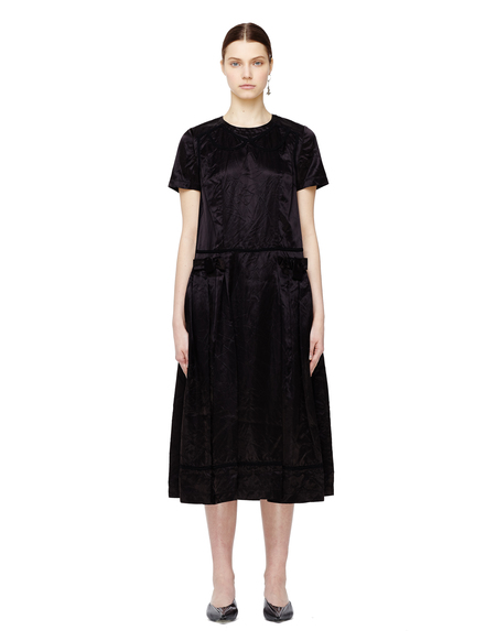 Comme des Garcons Bows Trimmed Dress - Black