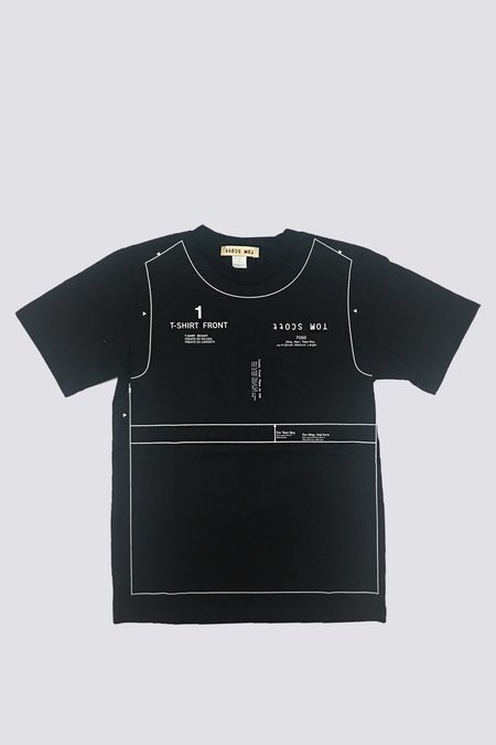 Tom Scott Pattern Print T-Shirt - black