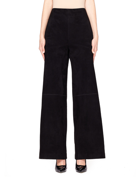 The Row Kiola Suede Wide-Leg Pants