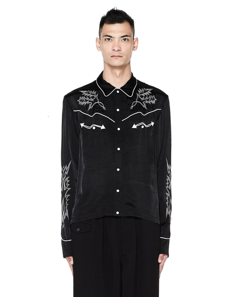 The Soloist Embroidered Shirt - Black