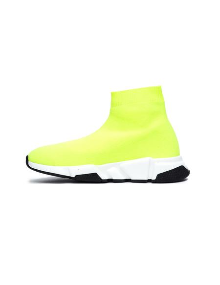 Kids Balenciaga Speed Trainers - Neon Yellow