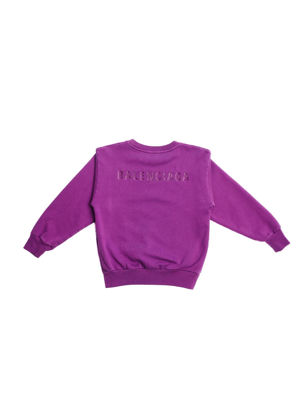 8209d3624c0a Kids Balenciaga Logo Sweatshirt - Purple