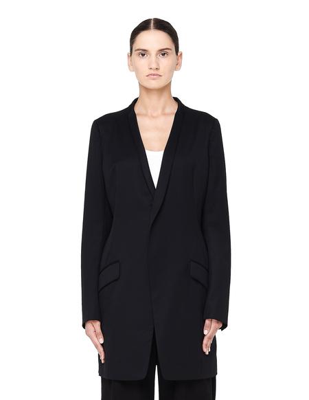 Y's by Yohji Yamamoto Elongated Wool Jacket - Black