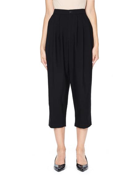 Comme des Garçons Cropped Wool Trousers - Black