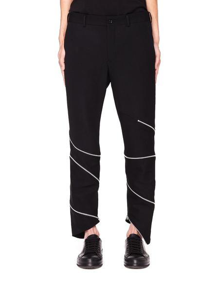 Comme des Garcons Homme plus Black Zip-Trimmed Trousers