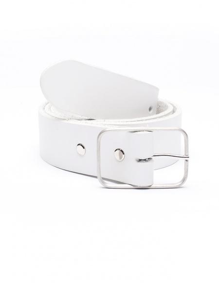 Amaury Leather belt - WHITE