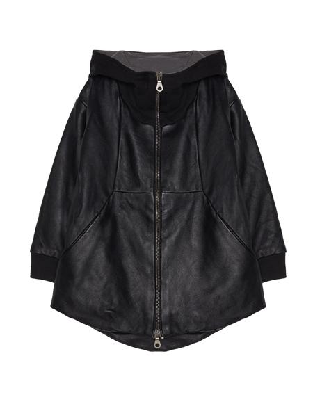 Kids Lost&Found Leather Jacket - Black