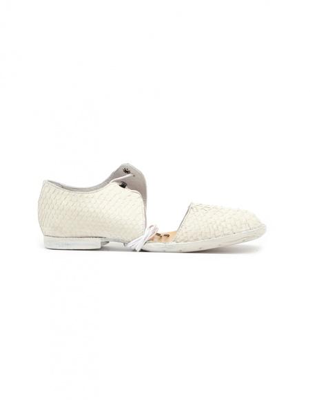 Barny Nakhle Python leather boots - WHITE