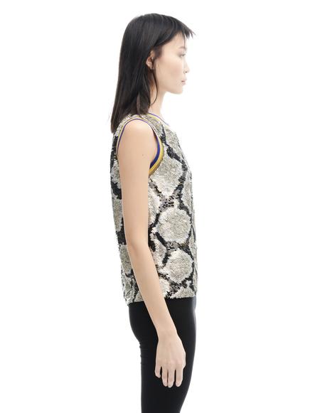 Ashish Silk sequin top - BROWN