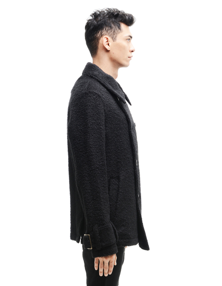 L.G.B. Alpaca/Wool Peacoat - Black