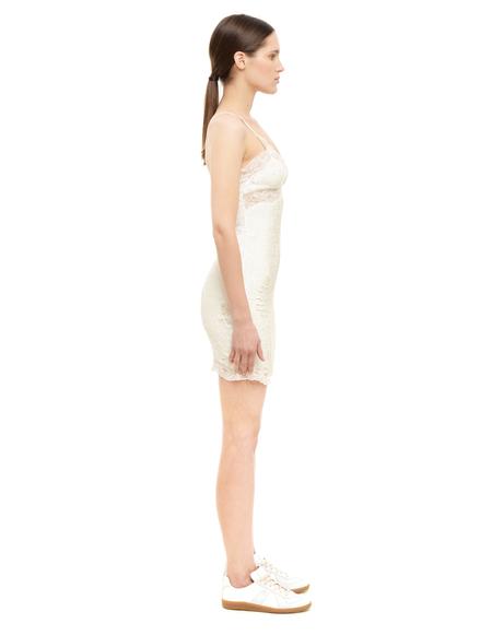 Ashish Sequinned Slip Dress - WHITE