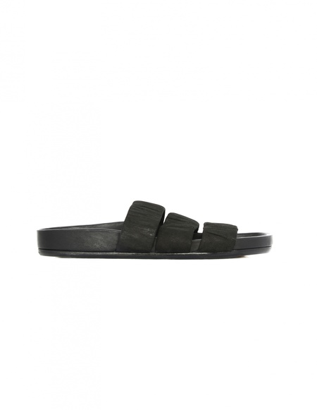 Rick Owens Leather Sandals - Black