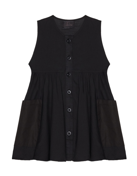 Kids Lost&Found Cotton Dress - Black