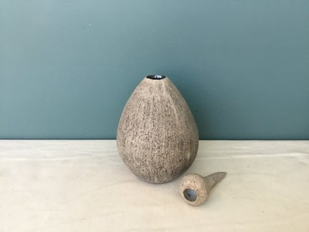 Jennifer Joh Brushed Sculpture Vase