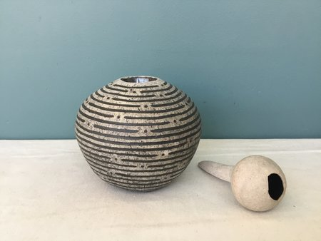 Jennifer Joh Round Sculpture Vase