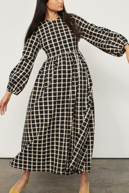 Mara Hoffman Paula Dress - Windowpane Plaid