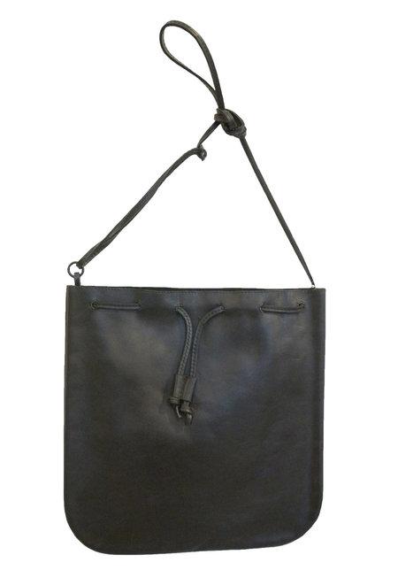 d/e goods Leather Tote - BLACK