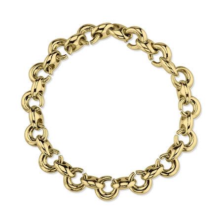 Gabriela Artigas Egg Link Bracelet - 14k Gold Plated