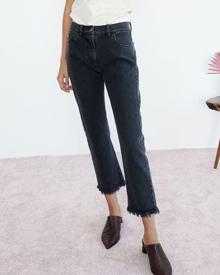 Nanushka SACHI Straight leg jeans - Black