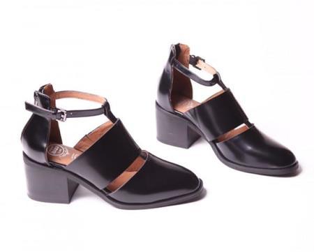 Jeffrey Campbell Melina Ankle Bootie - BLACK
