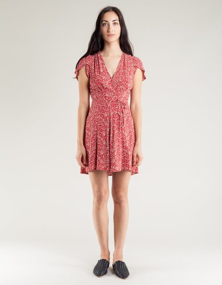 Rollas Dancer Wrap Dress - Chateau Red