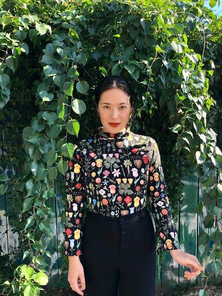 Samantha Pleet Turtle Bodysuit - Black Blossom